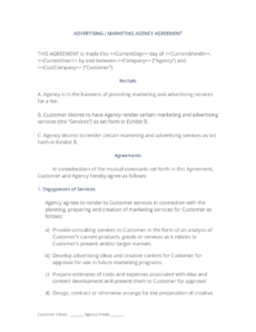 sample advertising and marketing agency contract  3 easy steps marketing consulting agreement template