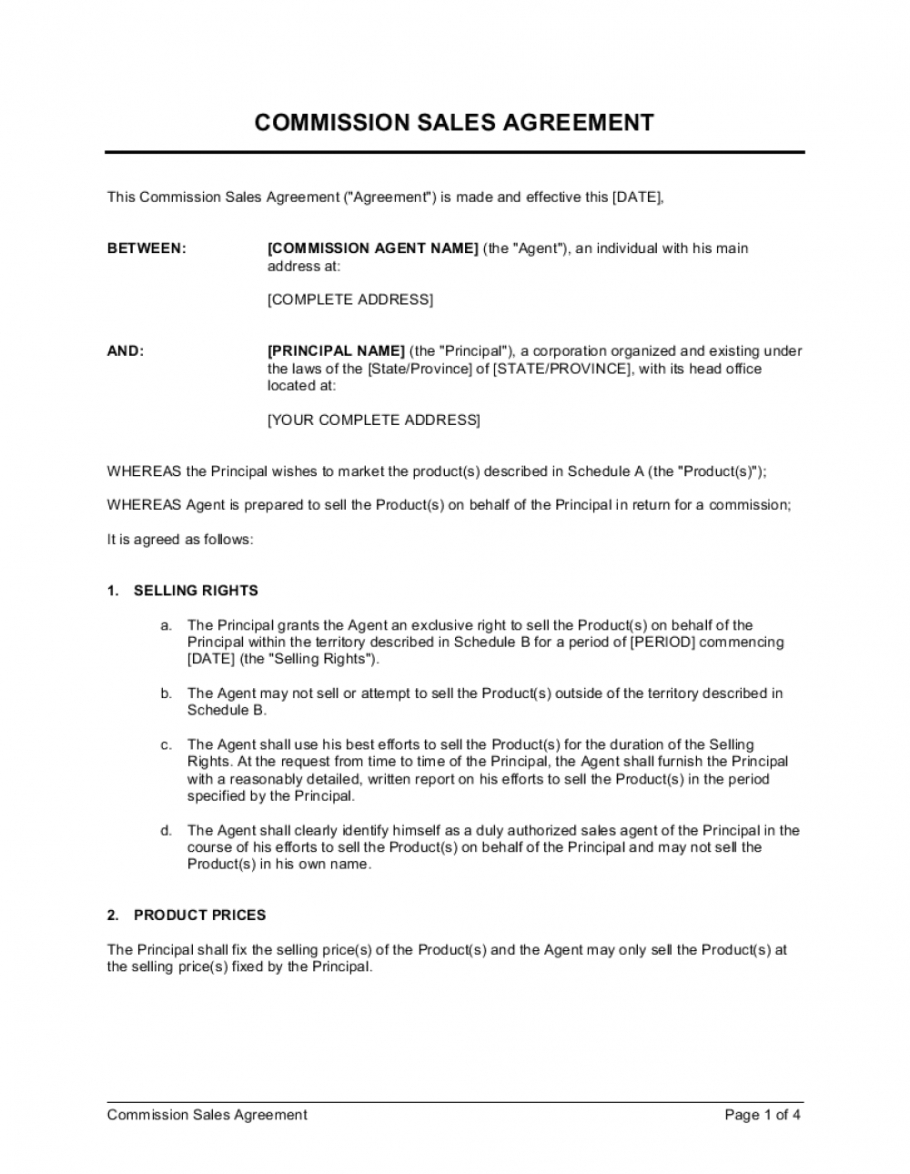 sample commission sales agreement template businessinabox™ commission split agreement template sample