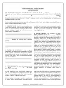 editable basic rental agreement or residential lease word doc  fill residential lease agreement template word example