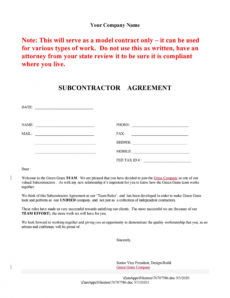editable need a subcontractor agreement? 39 free templates here hiring agreement template excel