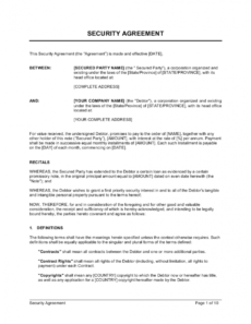 editable security agreement template businessinabox™ security guard contract agreement template doc