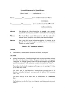 free 30 prenuptial agreement samples & forms ᐅ templatelab prenuptial agreement template pdf pdf