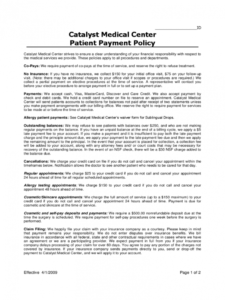 free payment policy template  2 free templates in pdf word financial agreement template for medical office doc