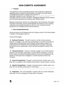 noncompete agreement templates  eforms  free fillable forms partnership non compete agreement template doc