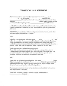 printable 26 free commercial lease agreement templates ᐅ templatelab best rental agreement template pdf