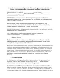 printable 50 professional license agreement templates ᐅ templatelab ip license agreement template doc