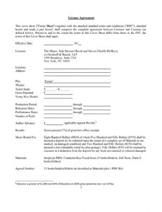 printable 50 professional license agreement templates ᐅ templatelab ip license agreement template excel