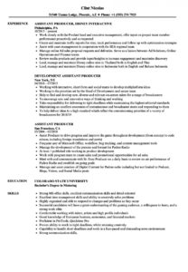 printable assistant producer resume samples  velvet jobs executive producer agreement template pdf