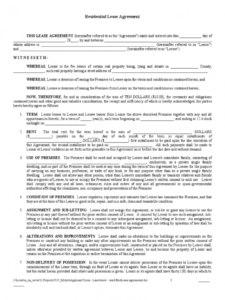 printable residential lease agreement  77 free templates in pdf word residential lease agreement template word