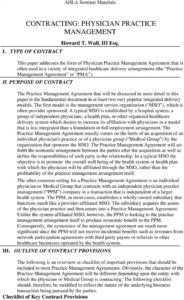 sample contracting physician practice management  pdf free download mso agreement template sample