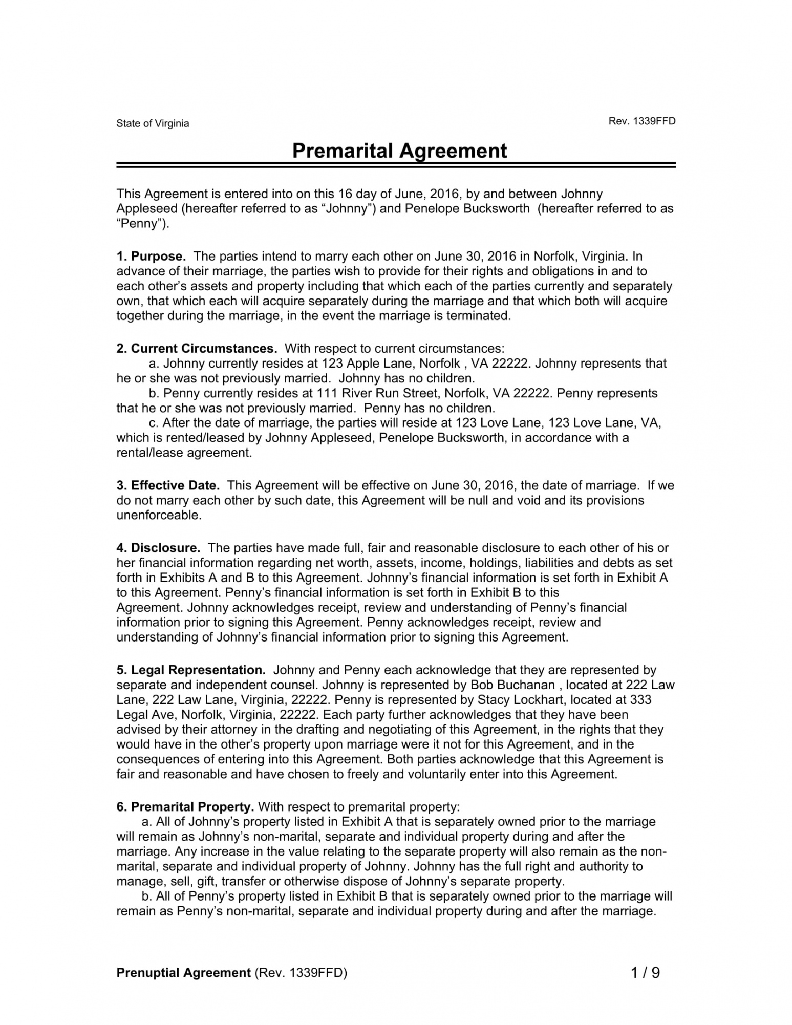 sample free 2 premarital contract forms in pdf  ms word prenuptial agreement template pdf doc