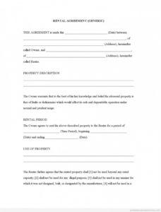 sample rental agreement template free ~ addictionary best rental agreement template