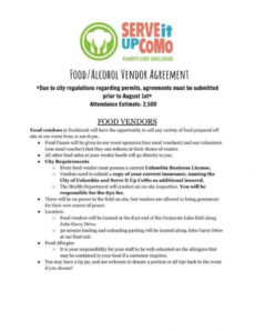 12 vendor agreement templates for restaurant cafe & bakery food vendor agreement template doc
