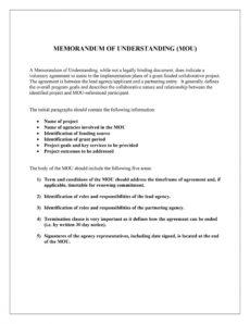 50 free memorandum of understanding templates word ᐅ framework agreement template excel
