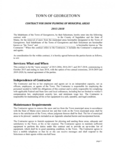 contract for snow plowing of municipal areas snow removal agreement template pdf
