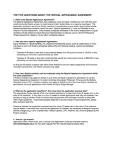editable appearance contract  fill out and sign printable pdf template  signnow appearance agreement template sample