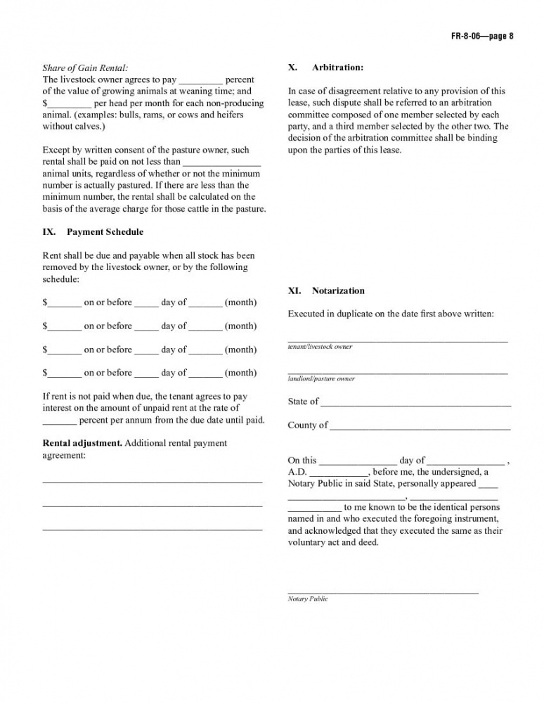 editable download free sample pasture lease agreement  printable pasture lease agreement template