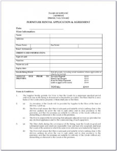 editable furniture rent to own agreement template  vincegray2014 furniture rental agreement template pdf