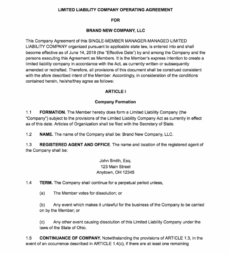 editable how to create an llc operating agreement  free templates operating agreement template doc doc