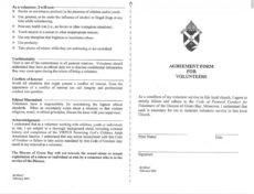 editable notre dame of de pere church volunteer agreement template sample