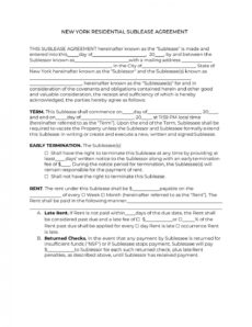 editable official new york sublease agreement form 2020  pdf & doc sublease agreement template new york sample