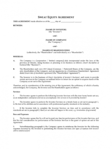 editable sweat equity agreement pdf  fill out and sign printable pdf template   signnow consulting for equity agreement template doc