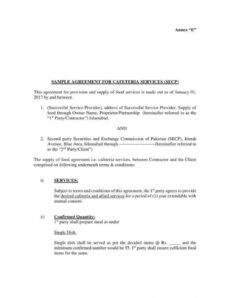 free 12 vendor agreement templates for restaurant cafe & bakery food vendor agreement template doc