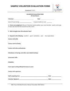 free 14 volunteer evaluation forms in pdf church volunteer agreement template