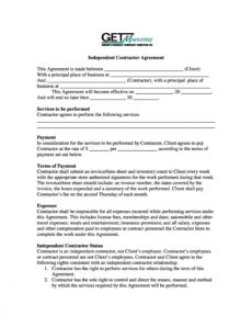 free 50 free independent contractor agreement forms & templates general contractor agreement template free word