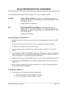 free sales representative agreement template businessinabox™ exclusive representation agreement template pdf