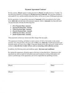payment agreement  40 templates & contracts ᐅ templatelab payment terms agreement template sample