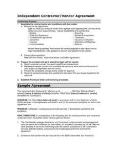 printable 12 vendor agreement templates for restaurant cafe & bakery food vendor agreement template example