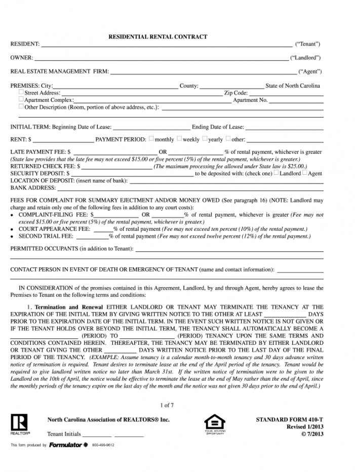 printable 20132020 form ncar sf 410t fill online printable rental agreement template nc word