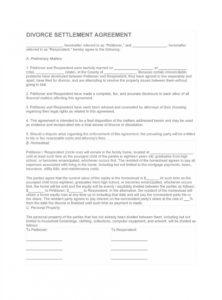 printable 42 divorce settlement agreement templates 100% free ᐅ divorce settlement agreement template sample
