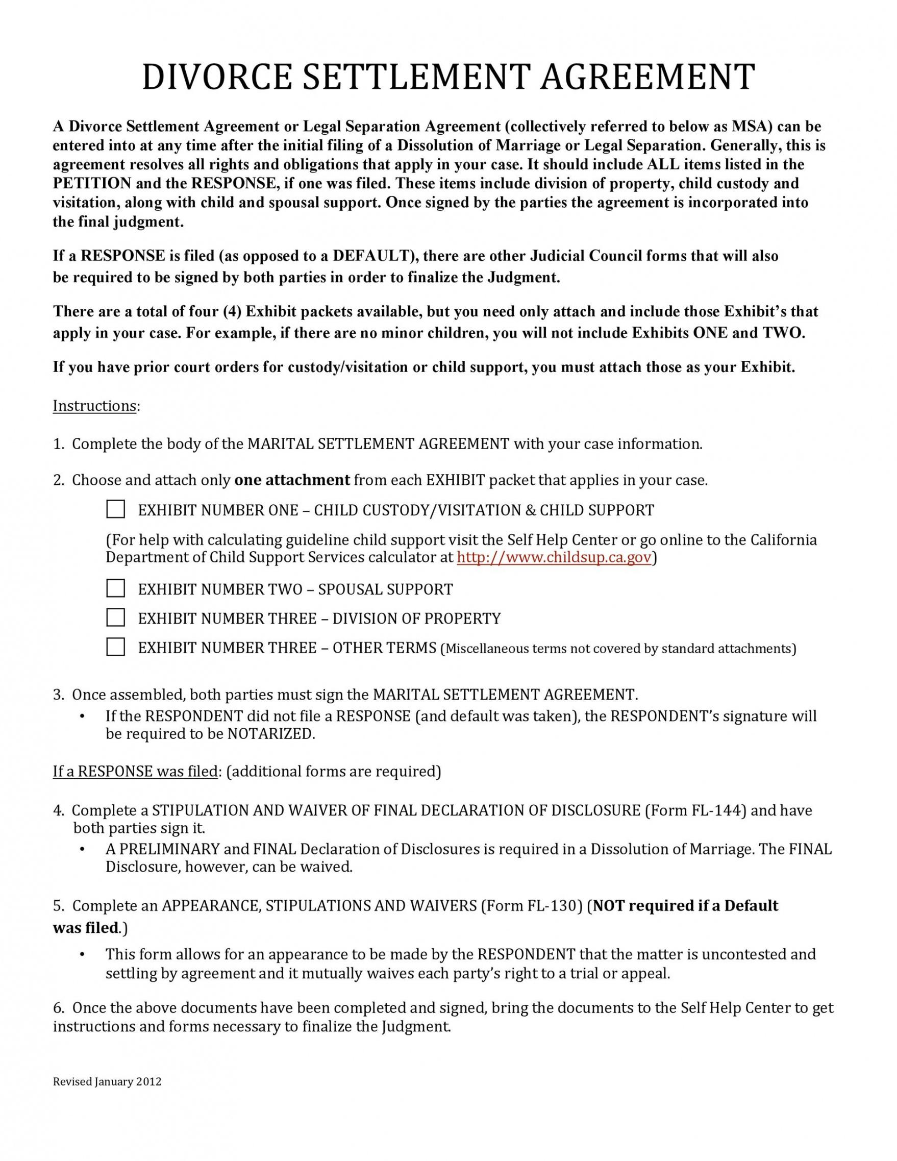 printable 42 divorce settlement agreement templates 100% free ᐅ divorce settlement agreement template word