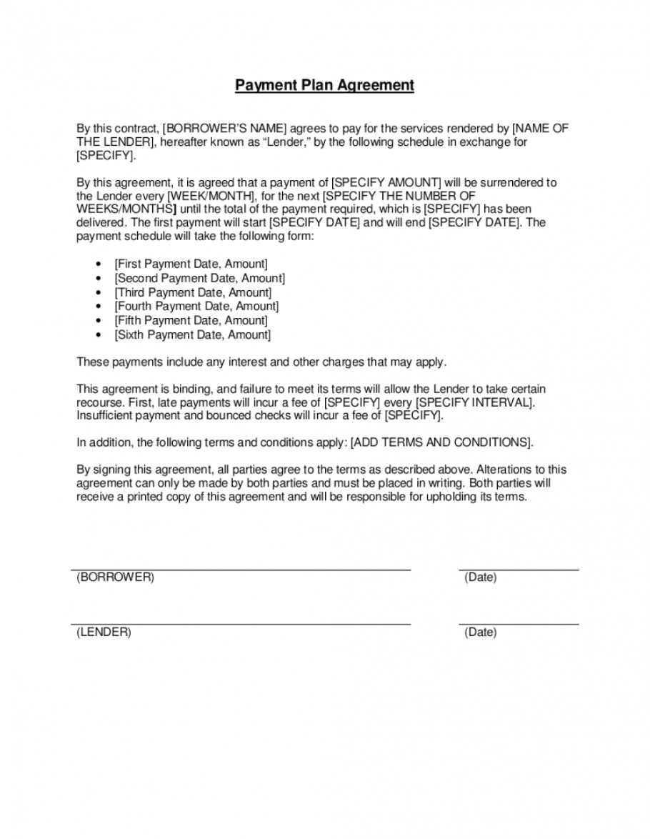printable payment plan agreement template businessinabox™ monthly subscription agreement template excel