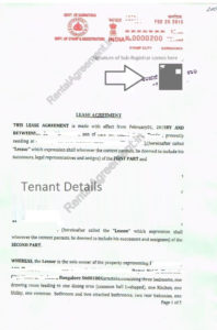 rental agreement template page  sample rent agreement notarized rental agreement template word