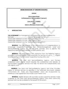 sample 50 free memorandum of understanding templates word ᐅ framework agreement template word