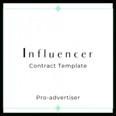 sample influencer contract template proadvertiser social media influencer agreement template word
