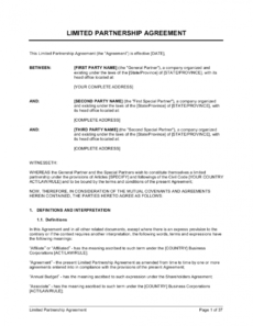 sample limited partnership agreement 2 template businessinabox™ business partnership agreement template doc