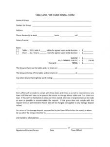 tables and chairs rental agreement form  fill online furniture rental agreement template