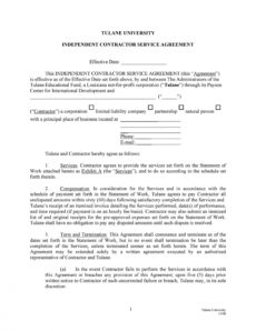 50 professional service agreement templates & contracts service provision agreement template