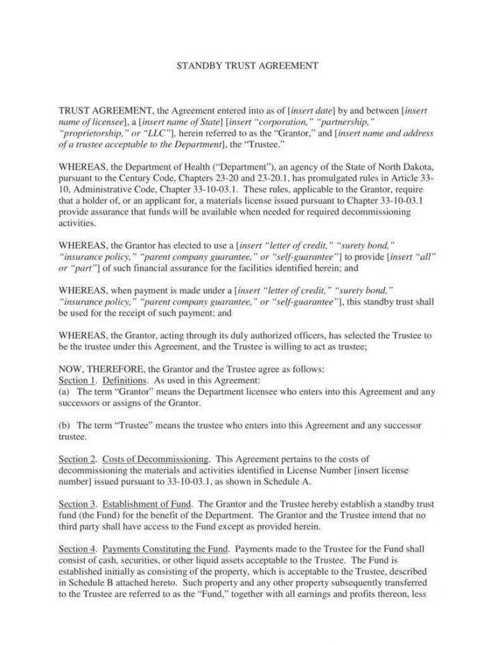 editable 18 trust agreement templates  pdf word  free & premium fiduciary agreement template