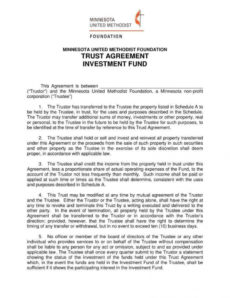 editable 18 trust agreement templates  pdf word  free & premium fiduciary agreement template