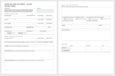 editable free workplace accident report templates  smartsheet accident investigation form template example