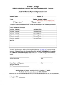 editable payment agreement  40 templates & contracts ᐅ templatelab financial agreement template free doc