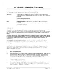 editable technology transfer agreement template businessinabox™ technology transfer agreement template pdf