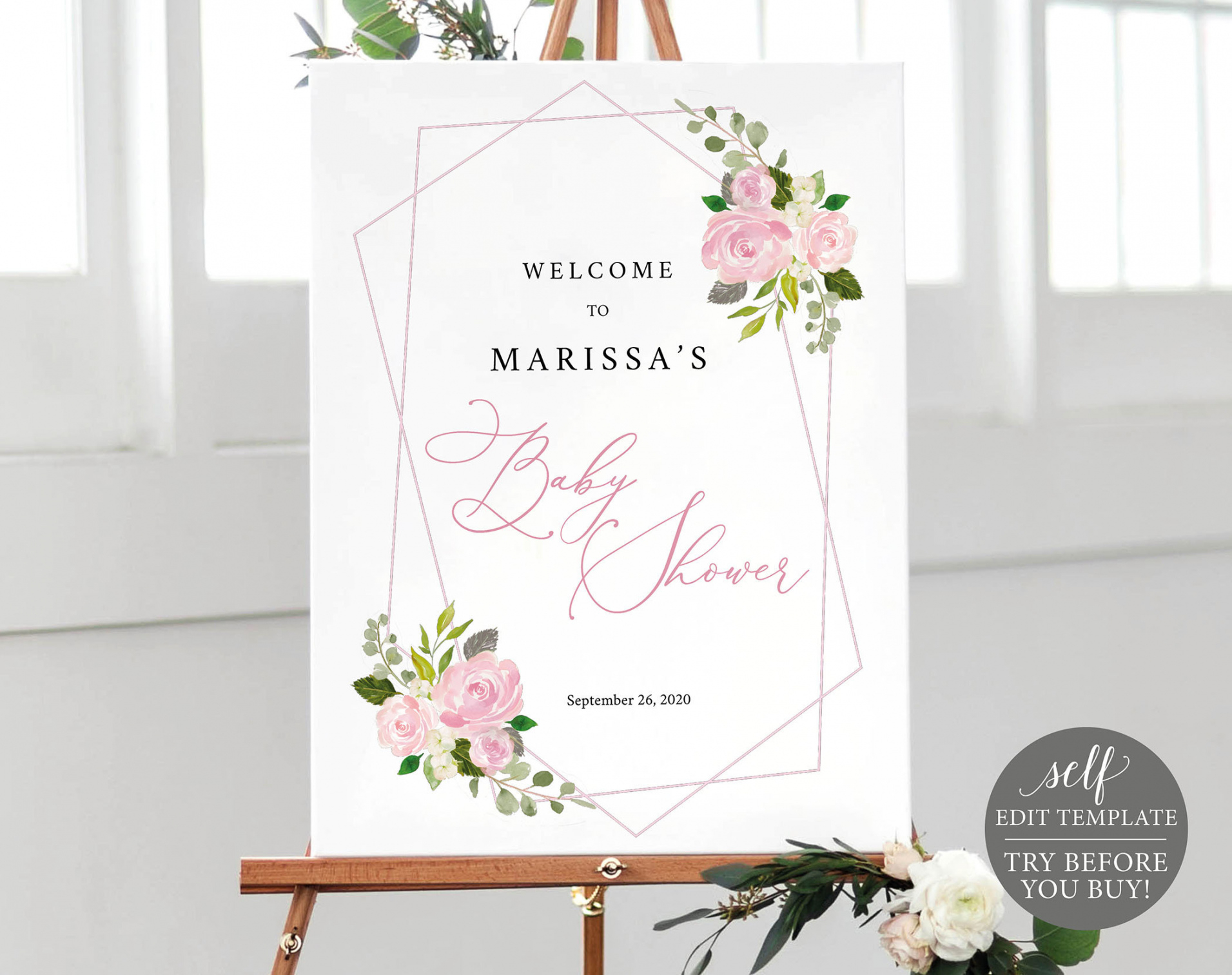 free baby shower welcome sign template 100% editable poster baby shower poster template pdf