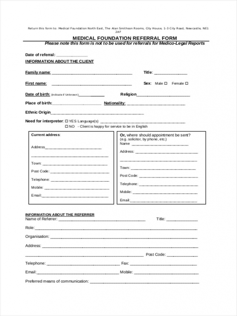 free free 8 sample medical referral forms in pdf  ms word home health referral form template excel