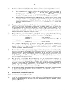 free option agreement for rights to original screenplay screenplay option agreement template sample